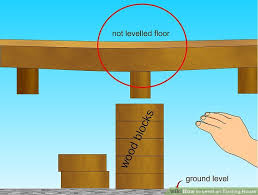replace foundation under existing house.  Foundation Image Titled Level An Existing House Step 4 On Replace Foundation Under