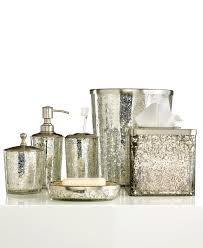 Paradigm Bath Accessories Crackle Glass Ice Collection Crackle Gold And Silver Bathroom Accessories
