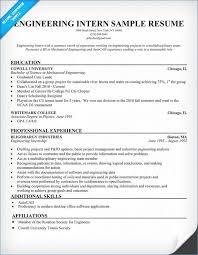 Engineering Internship Resume Lovely Internship In Resume Sample