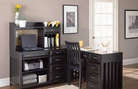 black home office. black l shaped desk home office