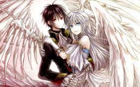 Cute Anime Couple Wallpaper - Angel And ...