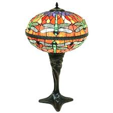dragonfly stained glass lamps 2 light red dragonfly globe stained glass inch table lamp dragonfly stained