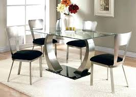 5 piece glass dining set round dining table set for 4 5 piece glass dining table