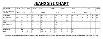 Women S Jean Size Chart Sizing Katie B
