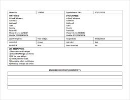 Sample Job Sheet 10 Documents In Pdf Word