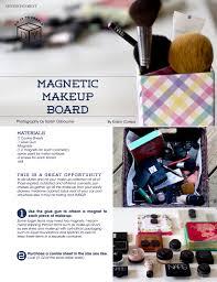 Medicine Cabinet Magnet Diy Magnetic Makeup Board Eide Magazine