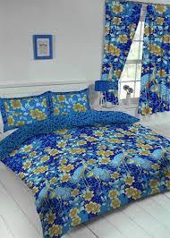 heron blue bird fl duvet cover set