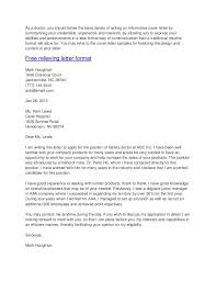 Cover Letters How To Format A Cover Letter In A Good Ways How To