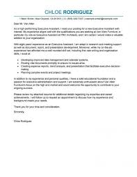 Cover Letter Sample Executive Assistant