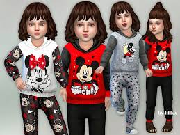 CUTE Mickey & Minnie Mouse Outfits By lillka! A Featured Artist in TSR!  LOVE this Artist! | Sims baby, Sims 4 toddler, Sims 4