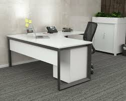 Image Study White Corner Office Desk Black Frame Olg Anvil Ebay White Corner Office Desk Black Frame Olg Anvil Ebay