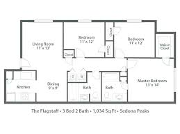 3 bedroom 2 bath apartment floor plans bathroom apartments best of three 1