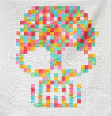 87 best Dia de los Muertos quilts images on Pinterest | Cat face ... & A HungryHippie original quilt pattern. Mexican Sugar Skull inspired  pixelated art quilt. This patchwork Adamdwight.com