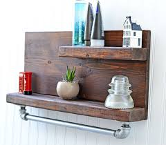 Rustic Kitchen Accessories Rustic Bathroom Decor Bathroom Shelf Bath Shelving Wall