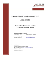 Consumer Financial Protection Bureau Cfpb Independent