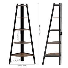 Homfa Leiterregal Mit 5 Etagen Aus Metall Holz Vintage