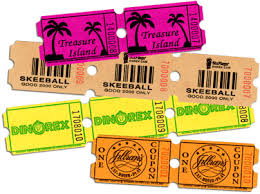 custom roll tickets strip sheet tickets