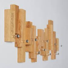 Personalised Coat Rack Oak Blocks Coat Rack MijMoj 50