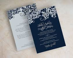 best 25 silver wedding stationery ideas on pinterest glamorous White And Blue Wedding Invitations wedding invitations, victorian filigree pattern design wedding stationery in navy blue, silver and white, jora royal blue and white wedding invitations