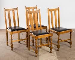 Auktionstipset Stühle Esszimmerstühle Holz Und Leder