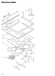 ykerc507hw0 free standing electric range cooktop parts diagram