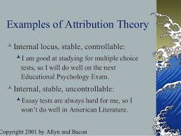 attribution theory essays theory essays