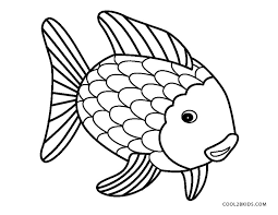 printable fish coloring pages rainbow fish coloring page