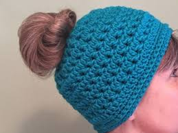 Free Crochet Hat Pattern With Ponytail Hole Amazing Crochet A Frenzy Bun Hat The Crochet Crowd