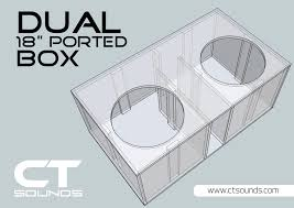 18 Inch Subwoofer Box Design Dual 8 Inch Ported Subwoofer Box Design In 2019 Subwoofer