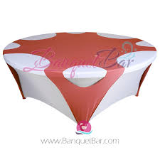 watermelon red round stretch table overlays
