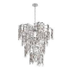eurofase elfassy collection 14 light chrome chandelier