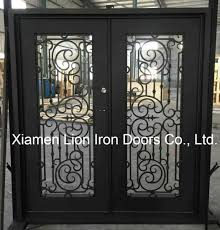 china luxury tempered glass metal front