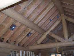 cathedral ceiling recessed lighting dzuls interiors august 20th great room ceiling with truss rough in of log home cowboy homes