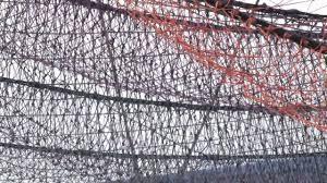 Railroad Inspired Net Sculpture L Janet Echelman