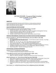 Flight Attendant Resume Objective Air Hostess Cv With No Experience