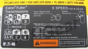 9 Speed Shift Pattern