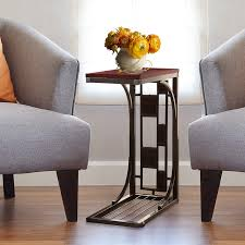 dining room side table. Kleeger Sofa Side Table With Cup Holder: Modern Coffee/Snack For Living Room Dining S