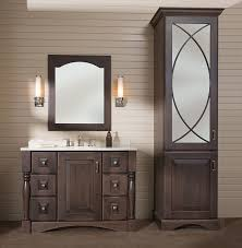 Image Master Bathroom Style Three Coordinated Bath Furniture Shown With Bella Door Style In Cherry With Carawaycharcoal Hgtvcom Bathroom Cabinetry Vanities Bath Furniture Dura Supreme