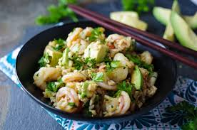 Recipe for brown rice salad with shrimp ...