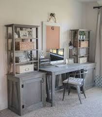 diy home office desk plans. freestanding shelves part three of the diy truss desk project with free woodworking plans diy home office
