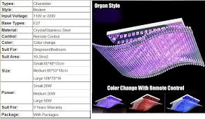 modern crystal chandelier led color change with remote control organ style rgb re ceiling lamp art deco pendant chandeliers