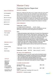 Customer Service Supervisor Resume Htm Resume Examples For Customer