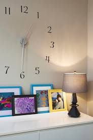 Large Wall Clock Bedroom Eclectic With Wall Decor Wall Clock