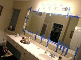 Its A Wannabe Decorators Life Framing Out A Mirror And Quarter - Trim around bathroom mirror
