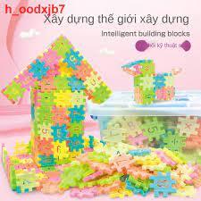 Đồ chơi lắp ráp khối xây dựng cho trẻ em, xếp hình chèn và ghép nhựa số ô  vuông 3-6, bé gái trai, 7-8-10 tuổi giá cạnh tranh
