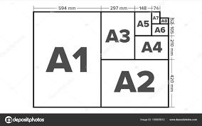 A7 Size Paper Sizes Vector A1 A2 A3 A4 A5 A6 A7 A8 Paper Sheet