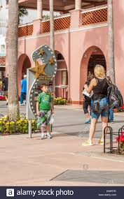 Universal Studios Height Chart Mother Takes Photo Of Son At Height Chart Near Entrance At