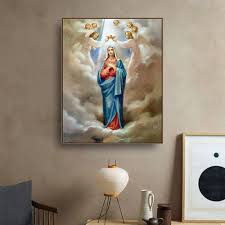 <b>Virgin Mary Lineage</b> Christian Canvas Painting & Calligraphy Art ...
