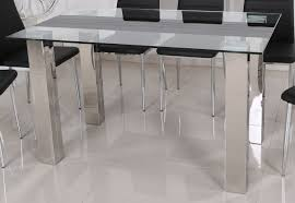 isabel glass top dining table
