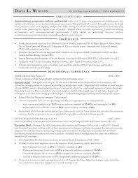 Remarkable Resume Format For Executive Chef For Your Chef Sample